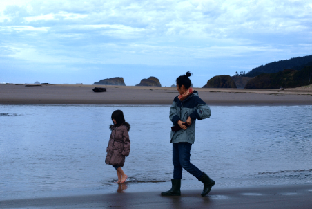 Walking on Cannon Beach