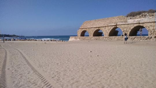 Roman Aquaduct in Caesarea Israel
